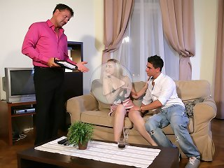 FLASH !!! Romantic evening ends in the husband calling an escort guy for his horny wife